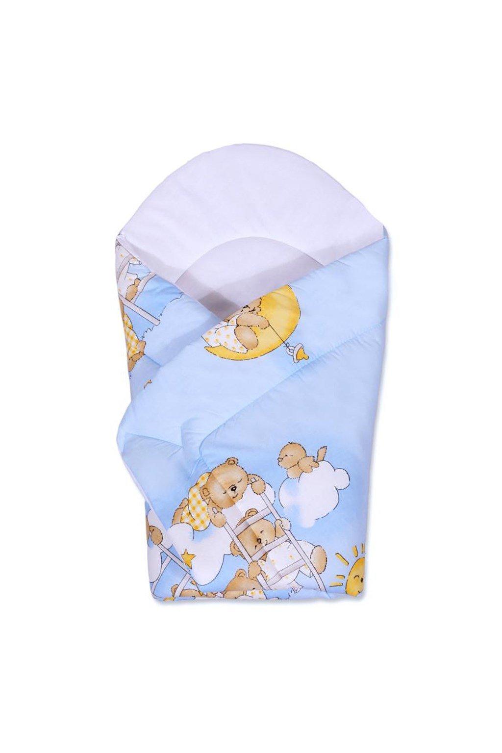 Detská zavinovačka New Baby modrá s medvedíkom