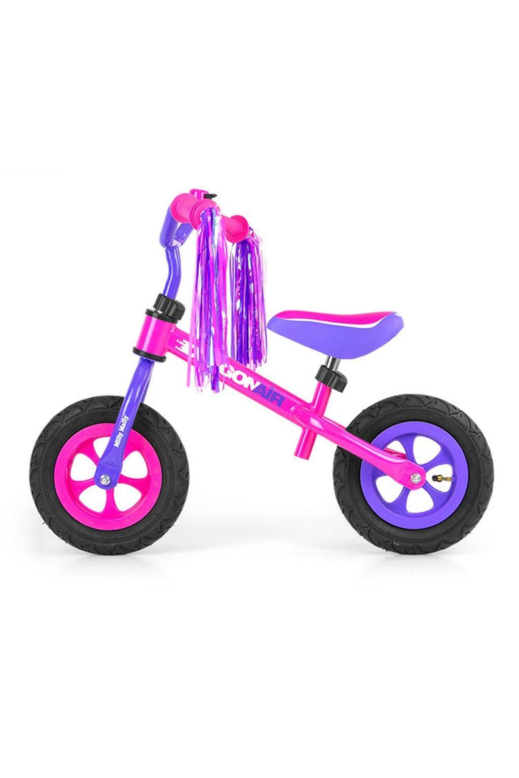 Detské odrážadlo kolo Milly Mally Dragon Air pink