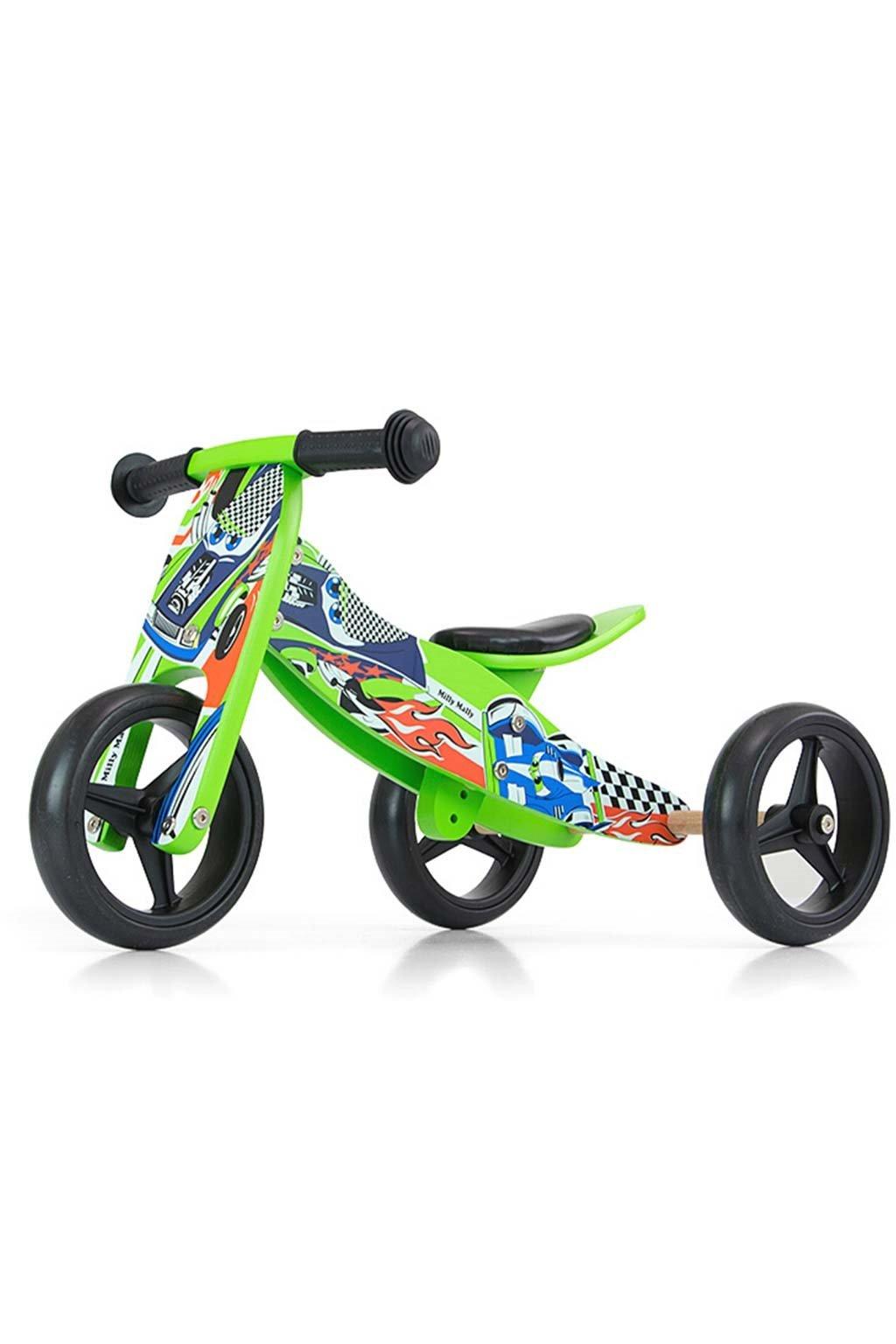 Detské multifunkčné odrážadlo bicykel 2v1 Milly Mally JAKE green