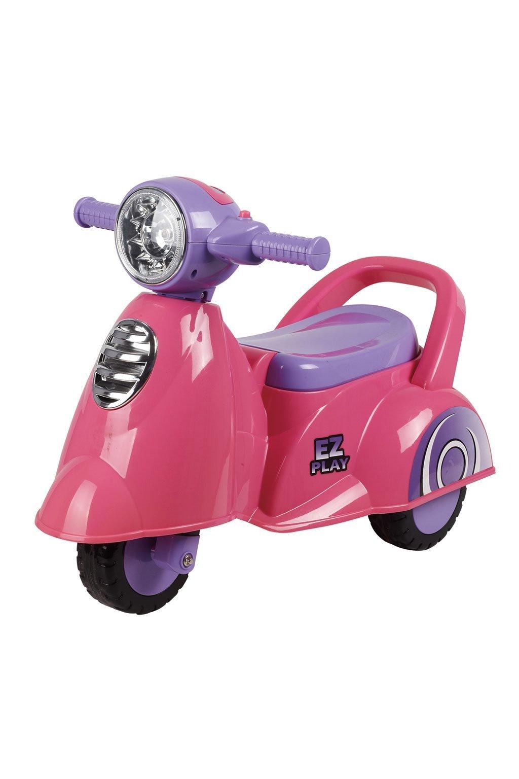 Detské odrážadlo motorka so zvukom Baby Mix Scooter ružové