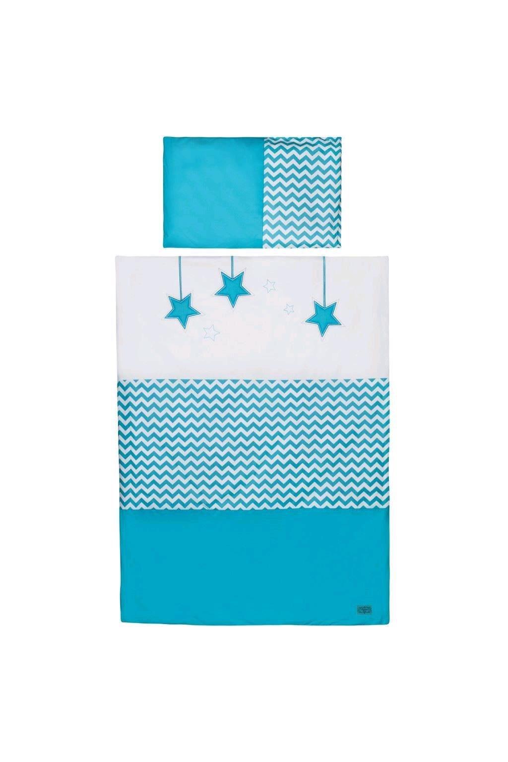 5-dielne posteľné obliečky Belisima Hviezdička 100/135 tyrkysové
