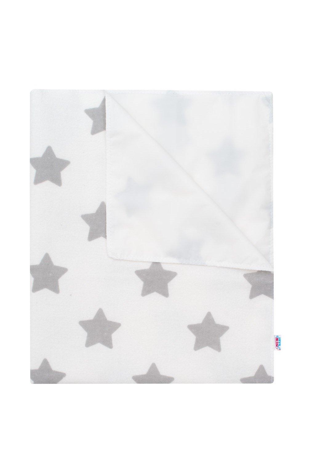 Nepremokavá flanelová podložka New Baby hviezdičky