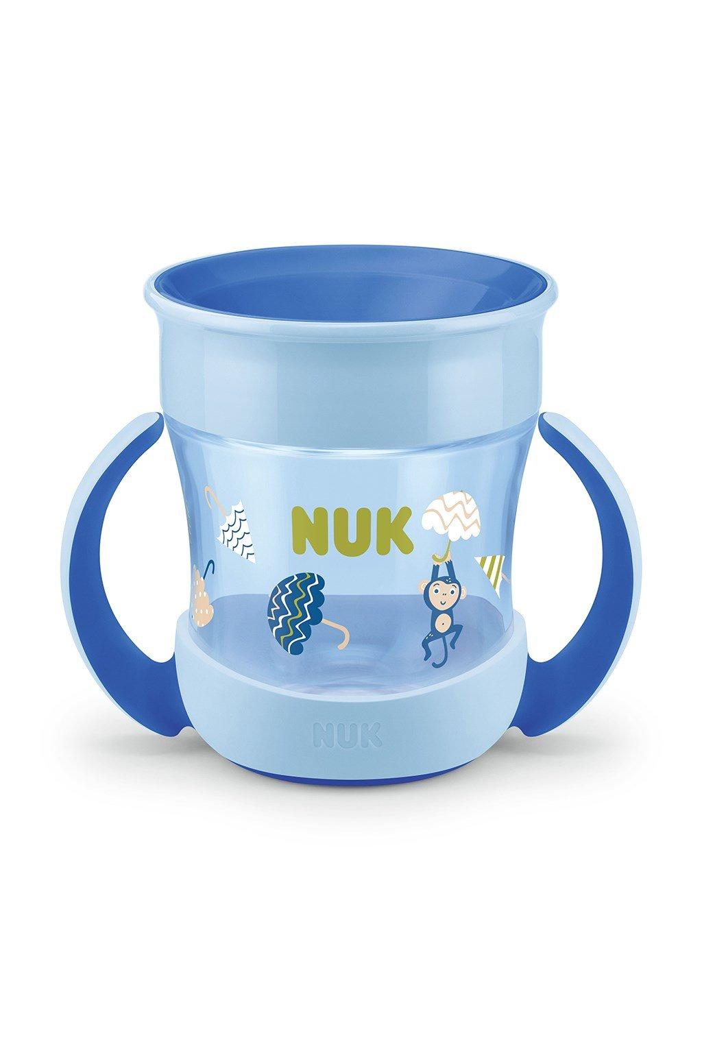 Detský hrnček Mini Magic NUK 360 ° s viečkom modrý