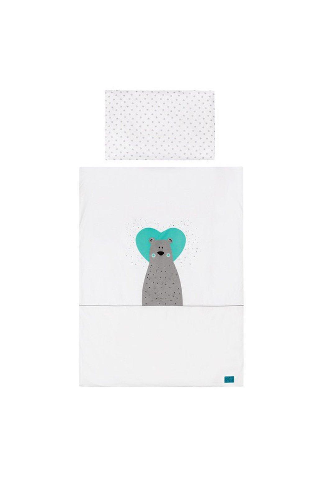 6-dielne posteľné obliečky Belisima Bear in love 90/120 tyrkysové