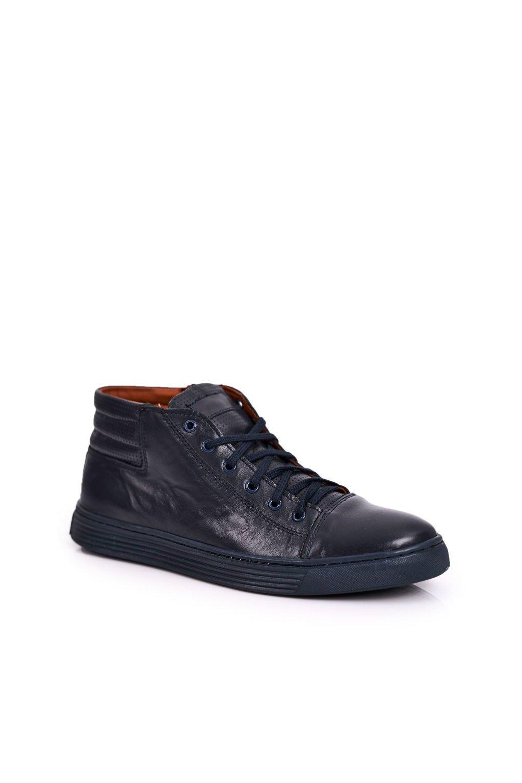 Pánske poltopánky farba modrá kód obuvi 304S NAVY