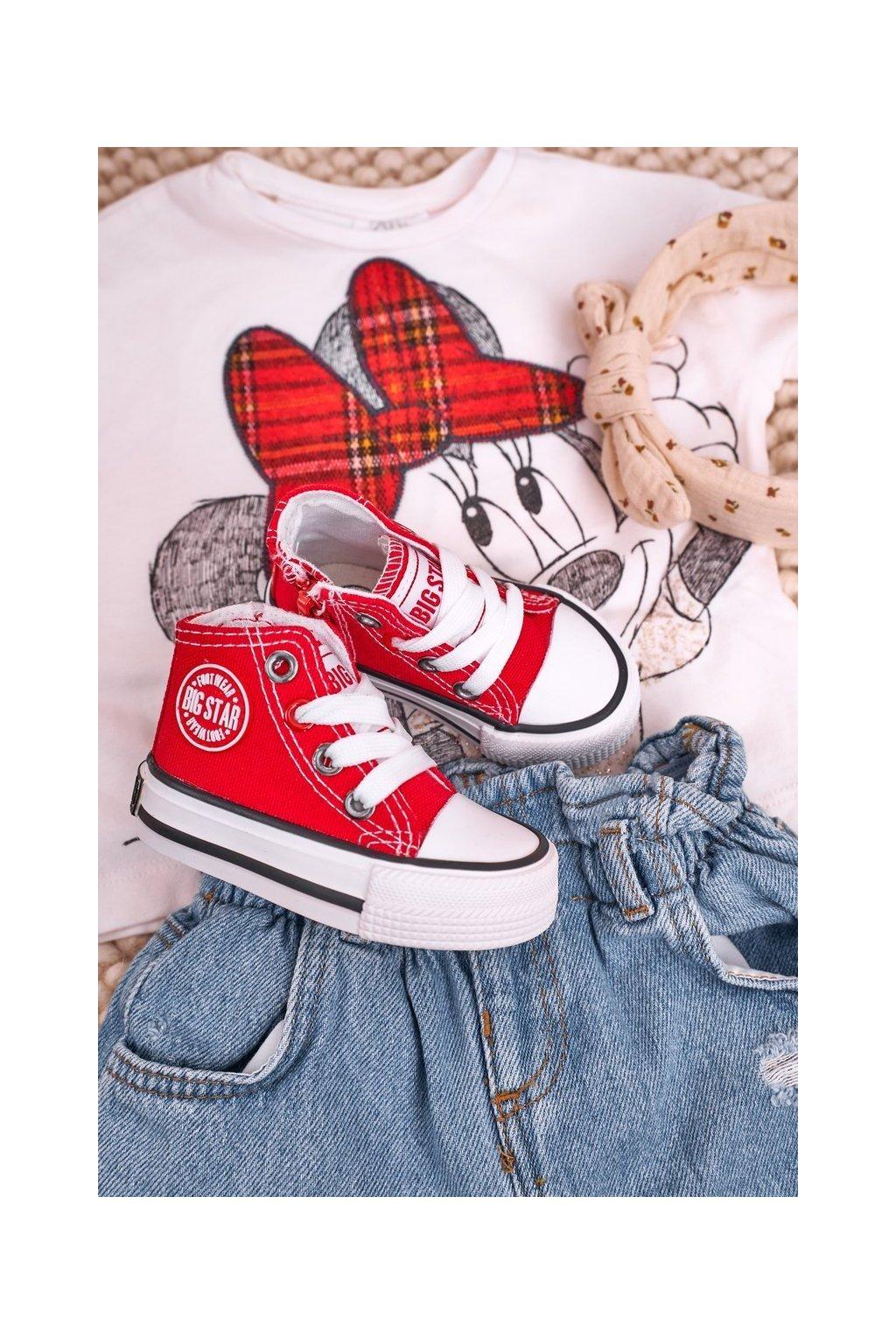 Detské tenisky farba červená kód obuvi HH374190 RED