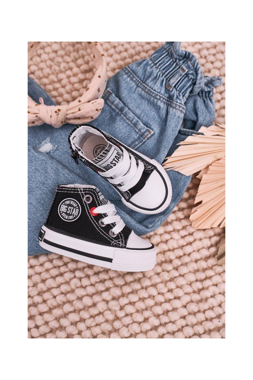 Detské tenisky farba čierna kód obuvi HH374188 BLACK