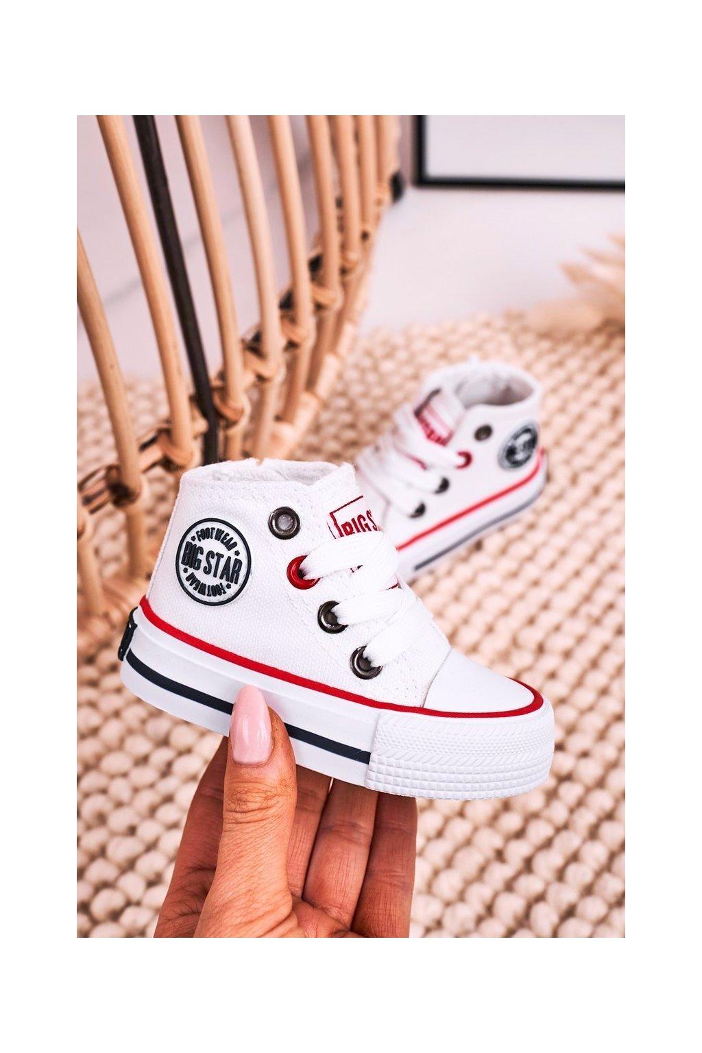Detské tenisky farba biela kód obuvi HH374187 WHITE
