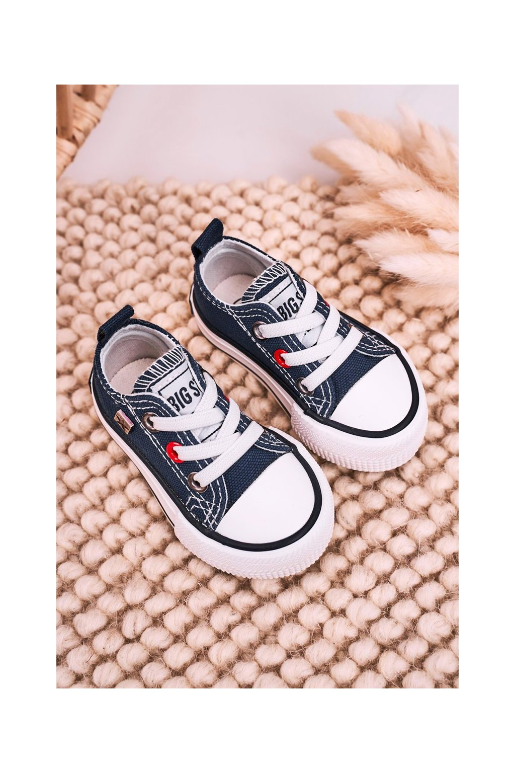 Detské tenisky farba modrá kód obuvi HH374195 NAVY