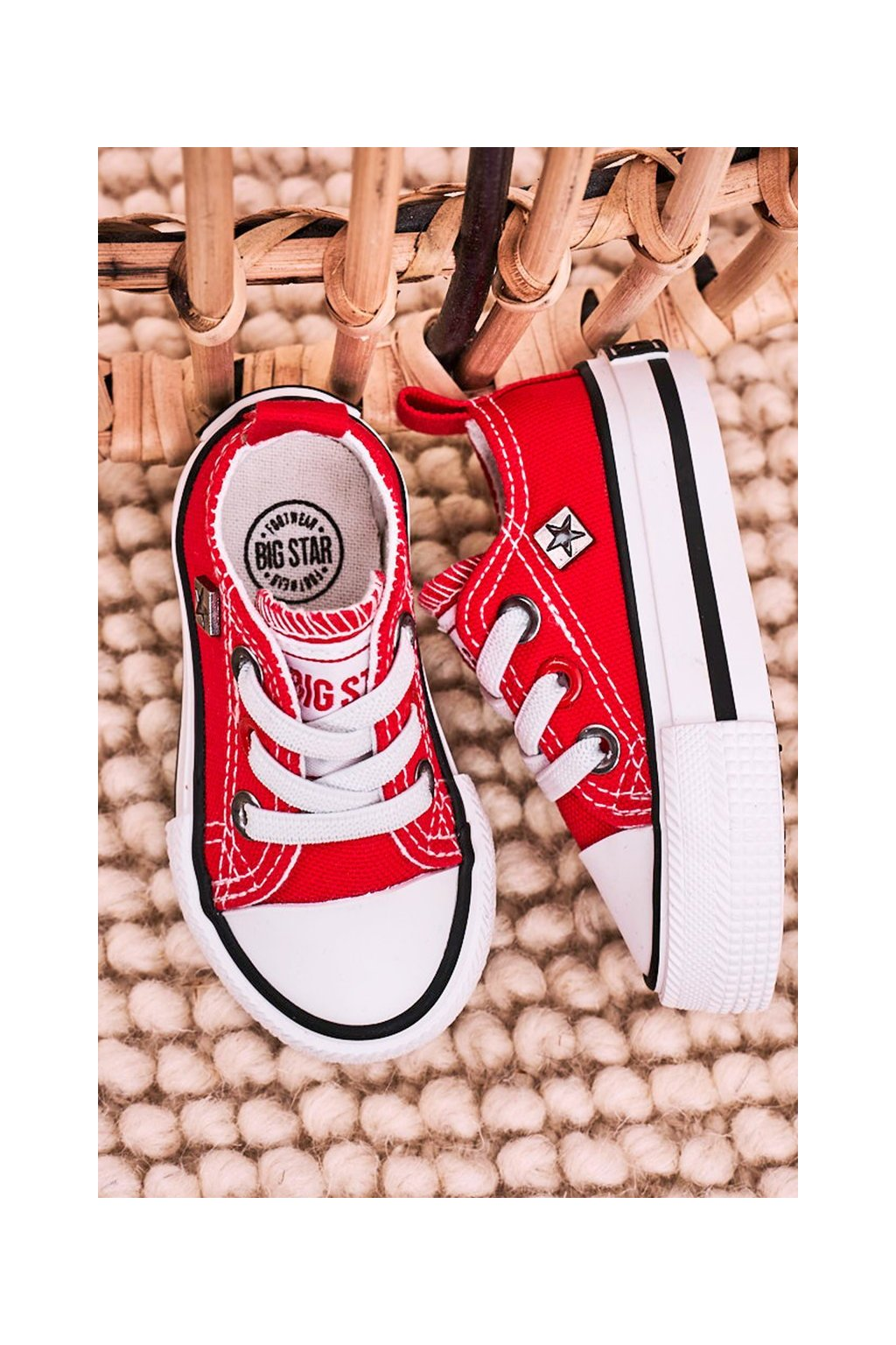 Detské tenisky farba červená kód obuvi HH374196 RED