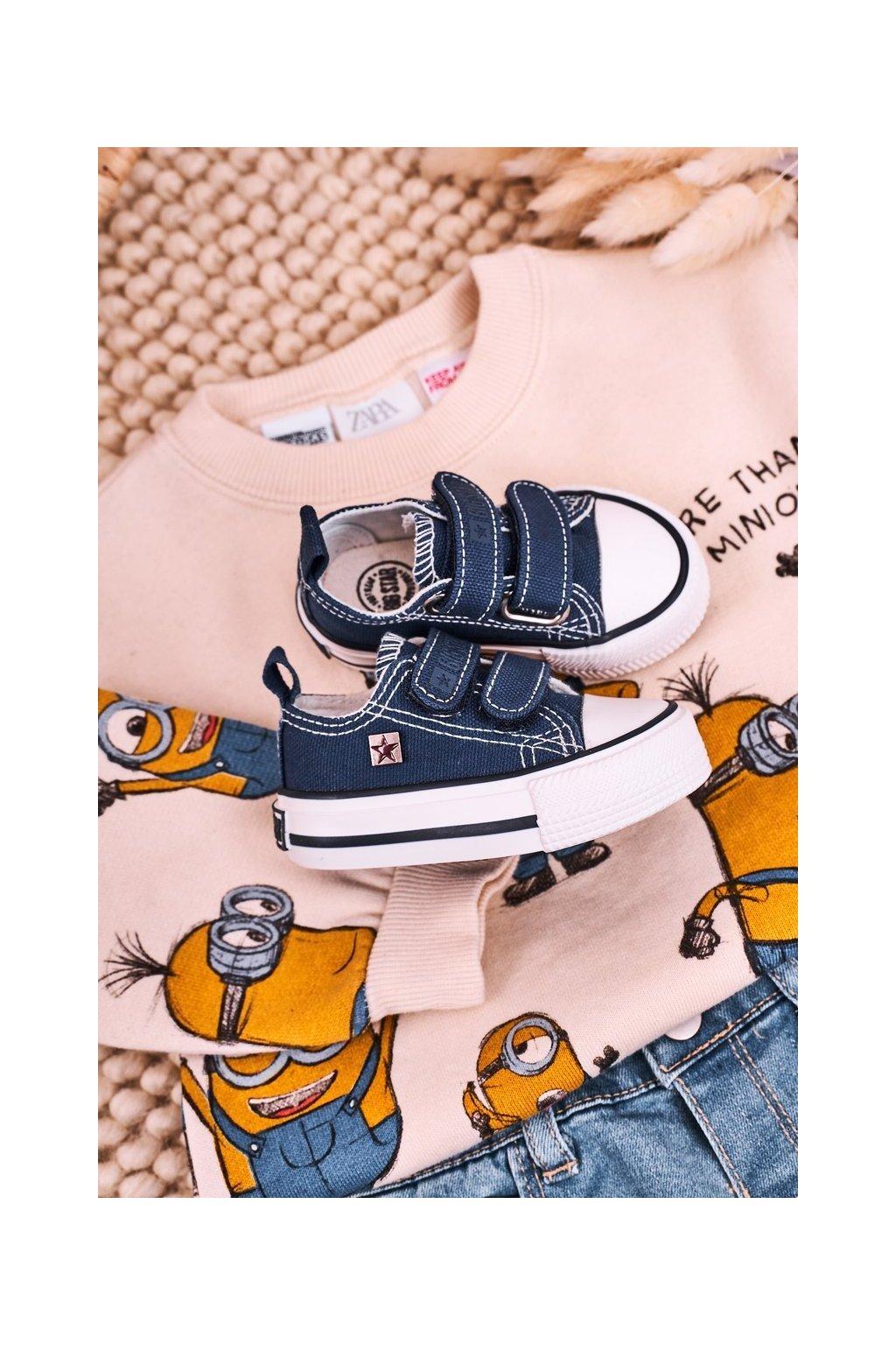 Detské tenisky farba modrá kód obuvi HH374201 NAVY