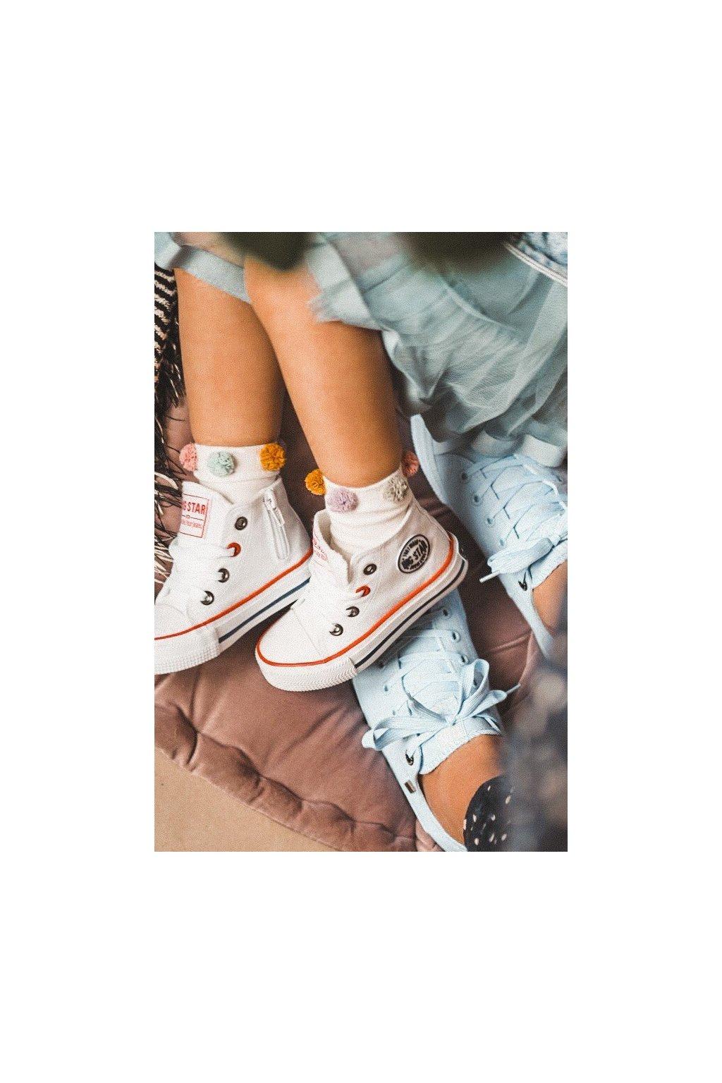 Detské tenisky farba biela kód obuvi HH374083 WHITE