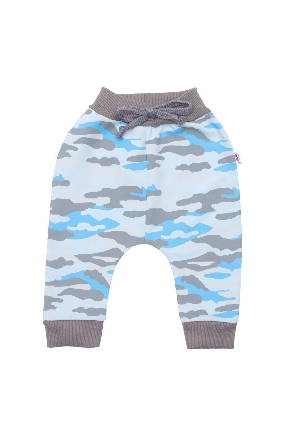 Dojčenské bavlnené tepláčky New Baby With Love modré