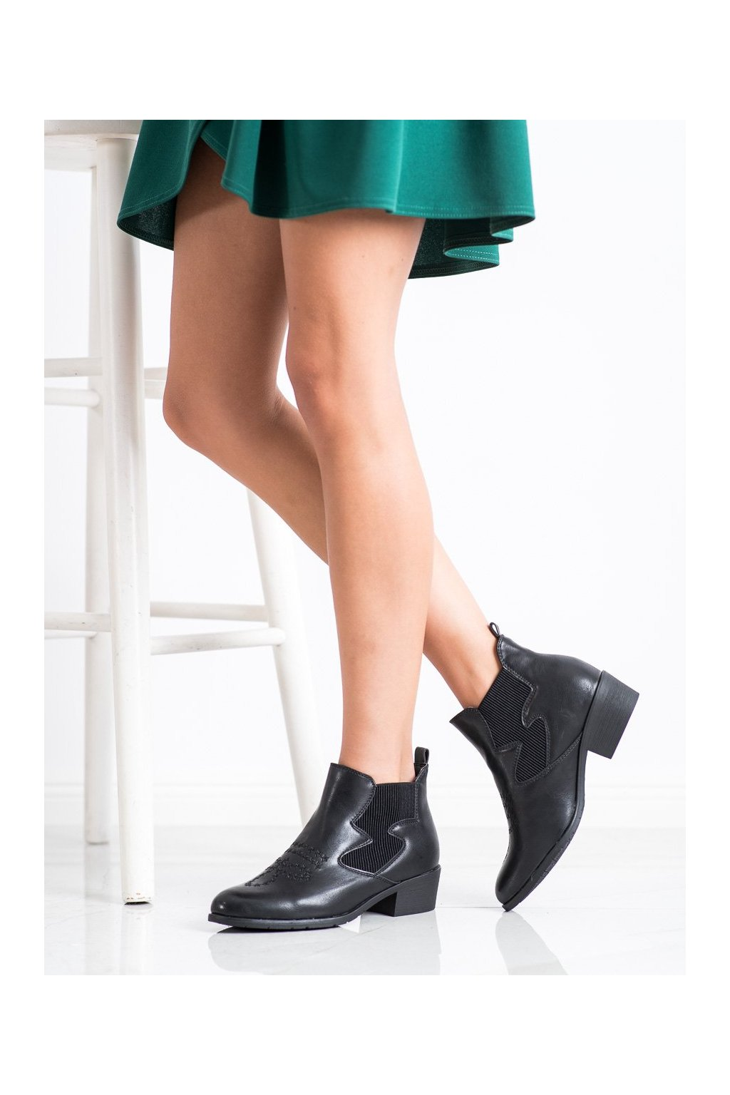 Čierne dámske topánky Weide NJSK HFN-7926B