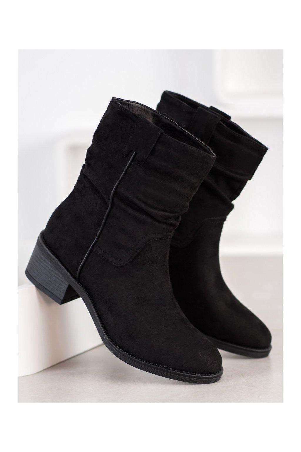 Čierne dámske topánky Super mode NJSK 3345B