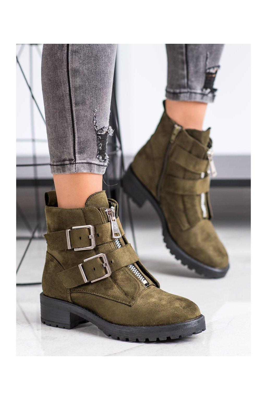 Zelené dámske topánky Corina NJSK C9626VE