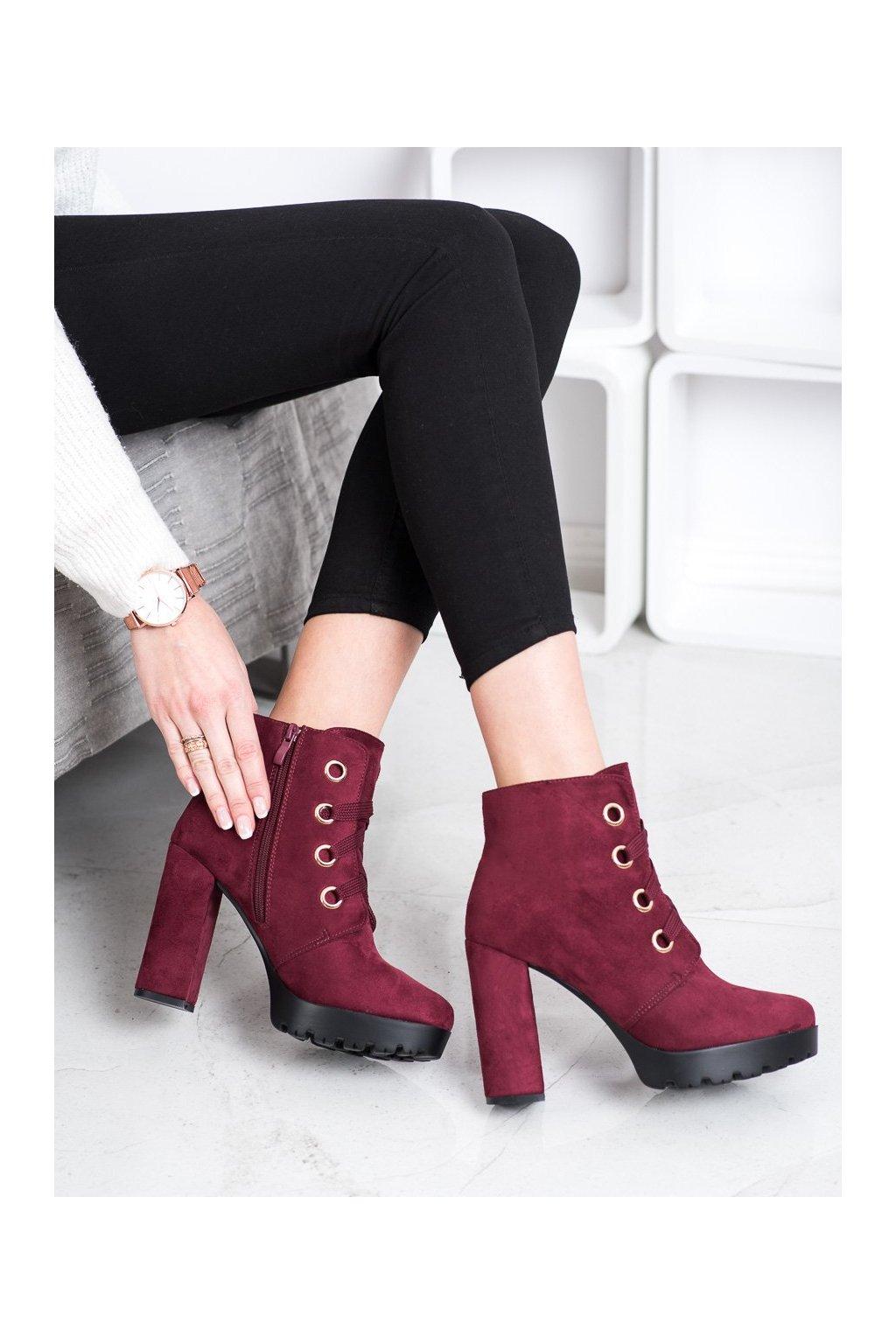 Červené dámske topánky Juliet NJSK L8126WI