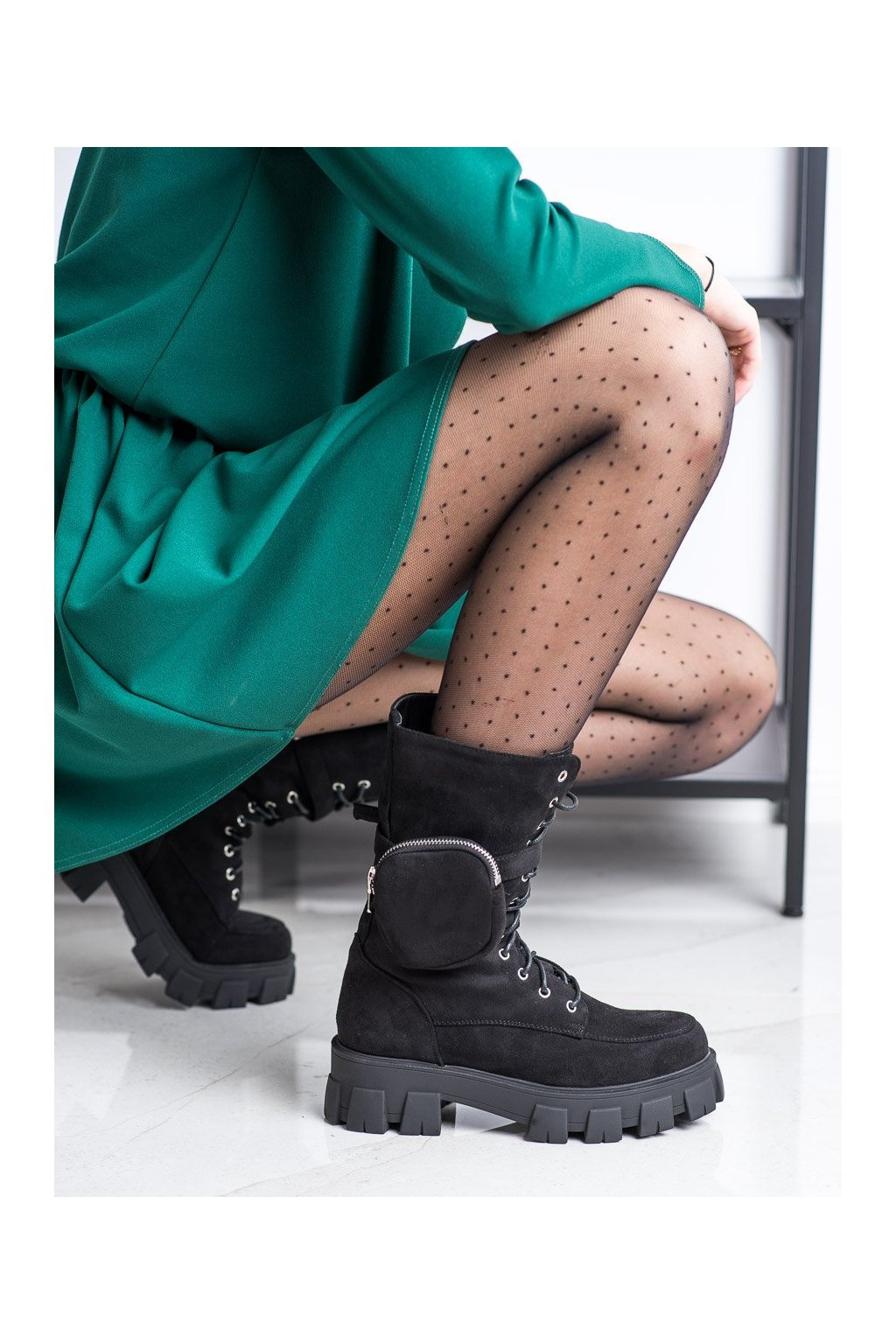 Čierne dámske topánky Seastar NJSK NC1111B