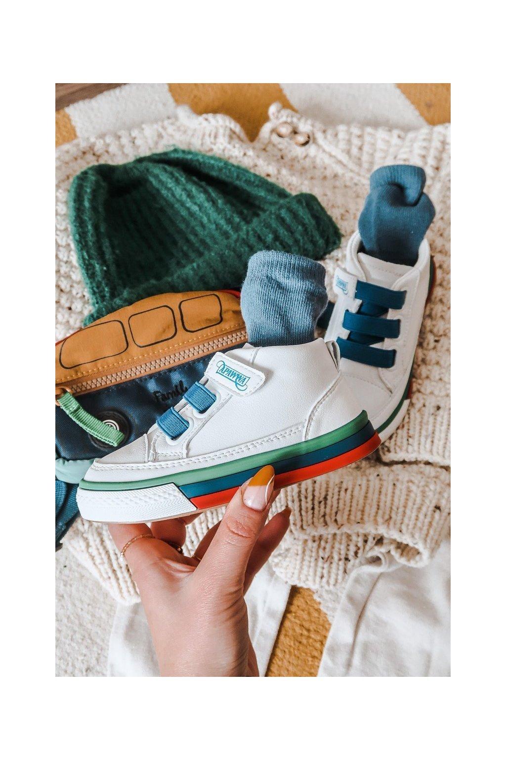 Detské tenisky farba biela kód obuvi GQ06 GQ22 NAVY