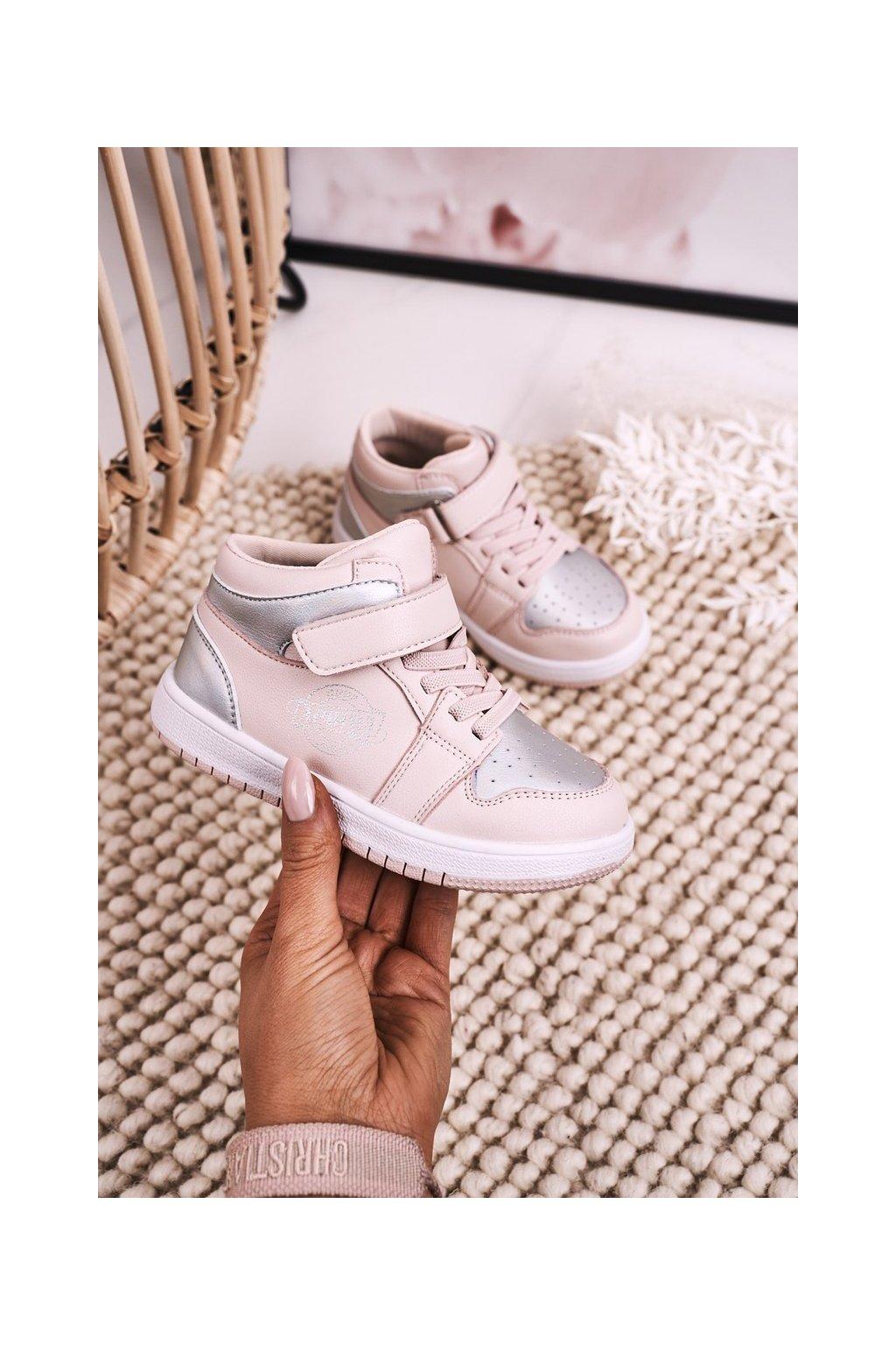 Detské tenisky farba sivá kód obuvi GQ16 GQ17 PINK