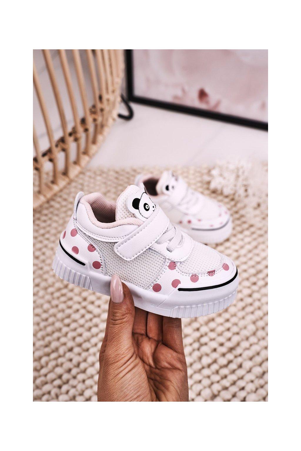 Detské tenisky farba ružová kód obuvi NC59 PINK