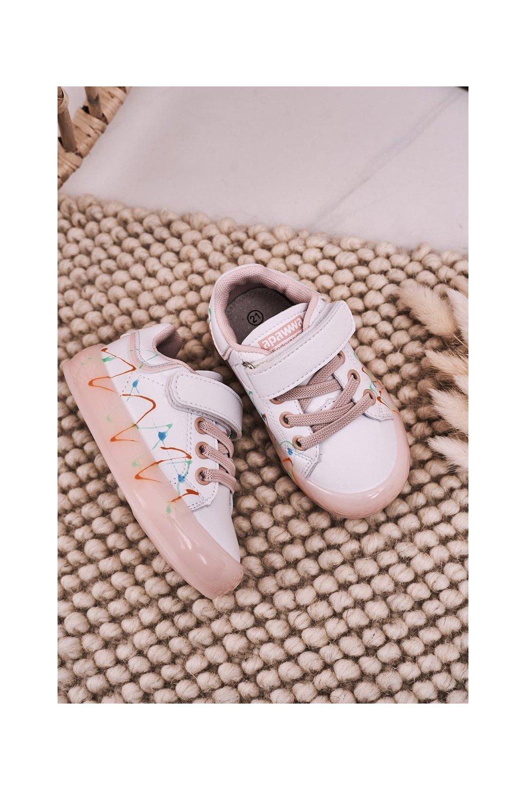 Detské tenisky farba ružová kód obuvi NC57 PINK