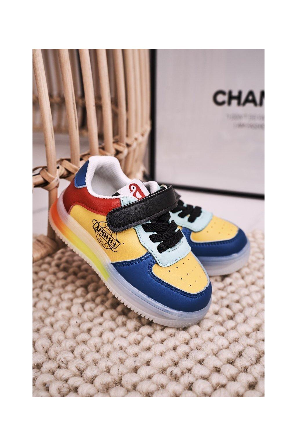 Detské tenisky farba viacfarebná kód obuvi NC61 BLUE Wielokolorowe