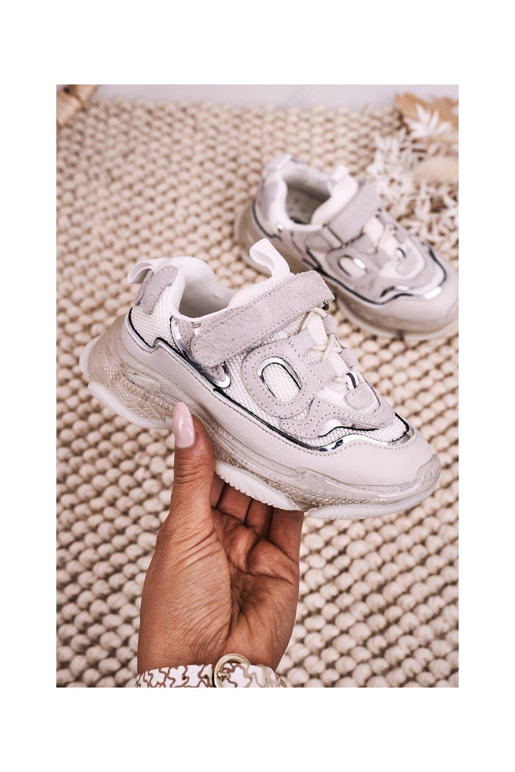 Detské tenisky farba biela kód obuvi I033 WHITE