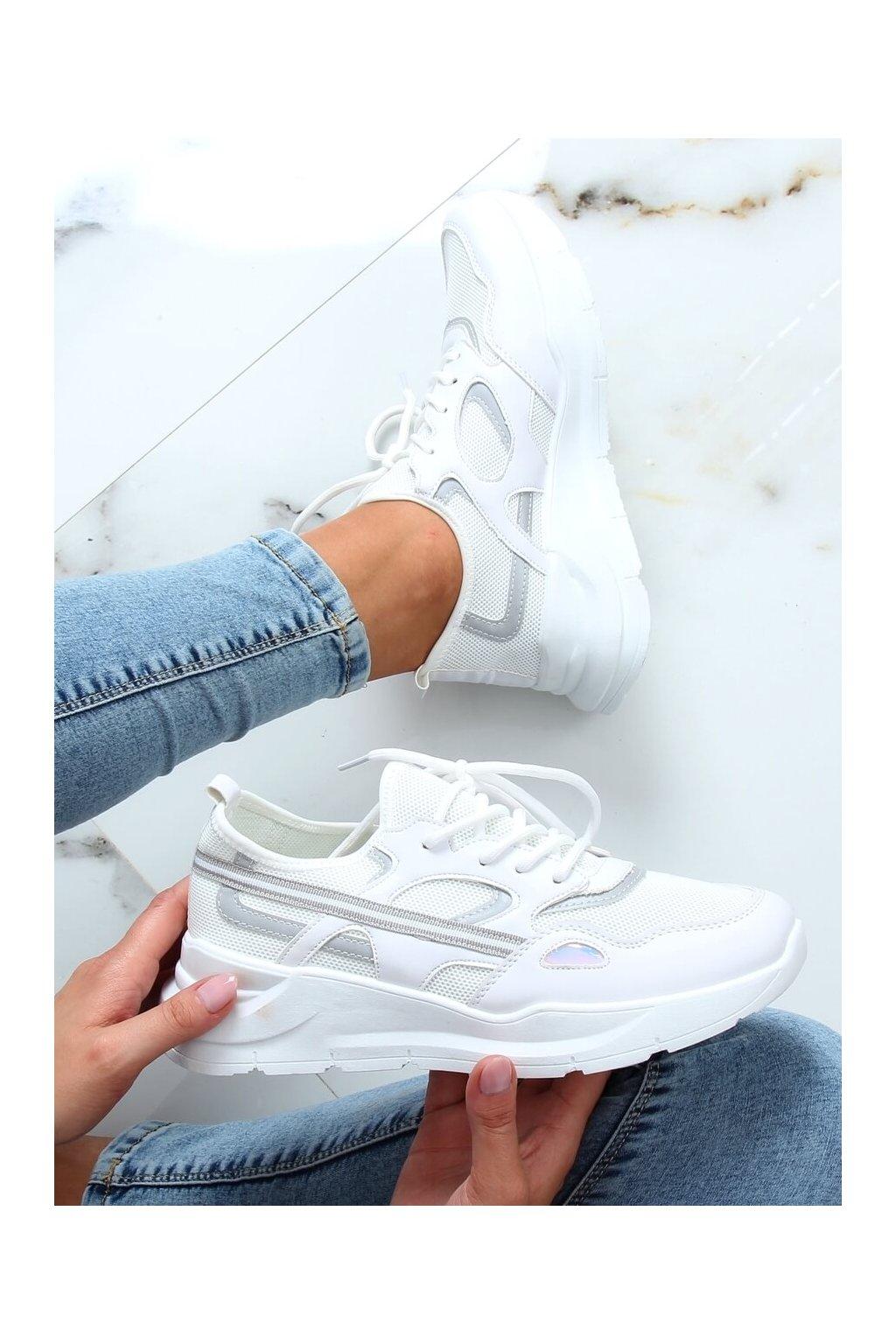 Dámske tenisky biele B0-560