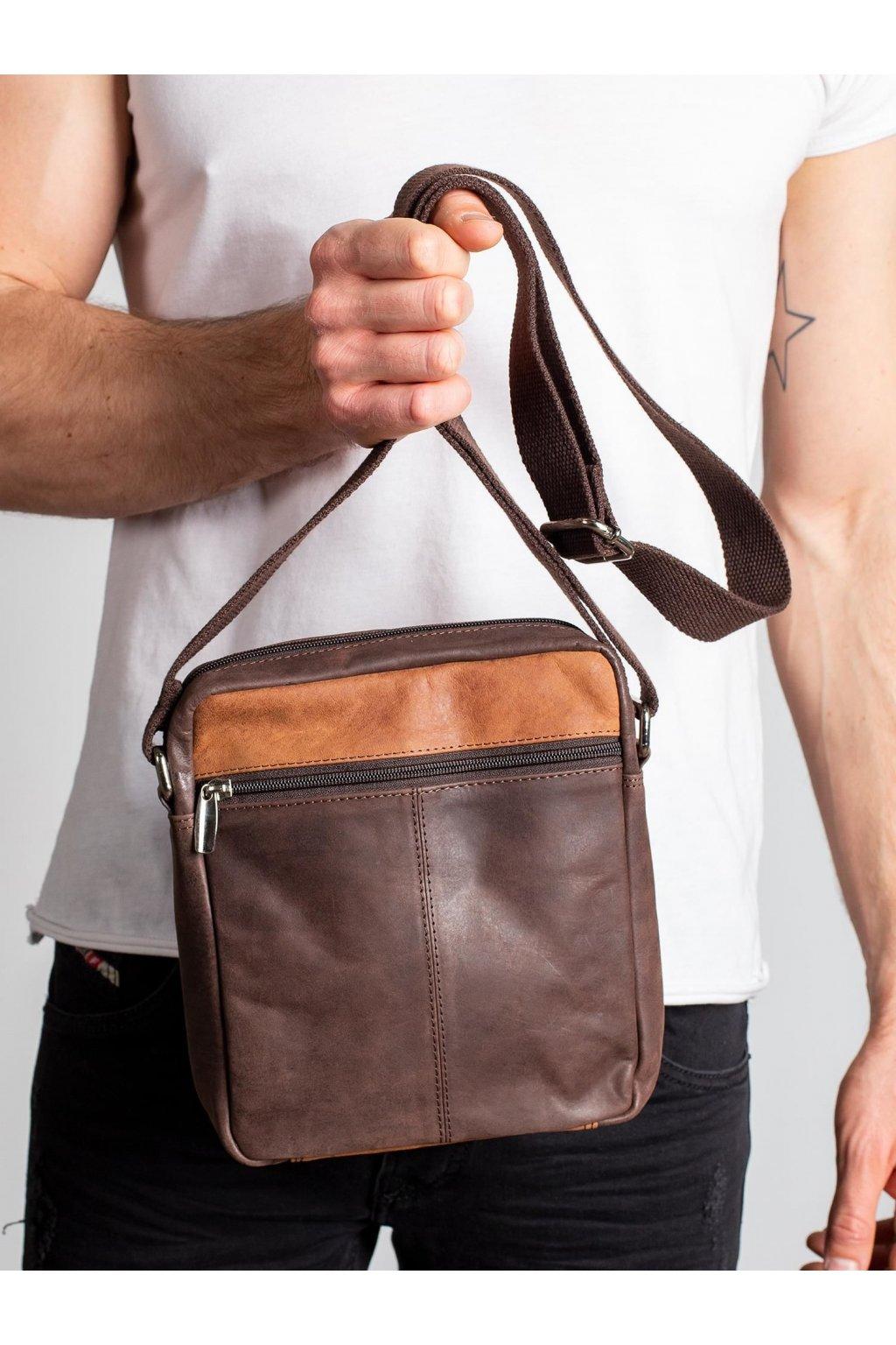 Pánska kabelka tmavo-hnedá kód CE-TR-BAG-1-HB.07