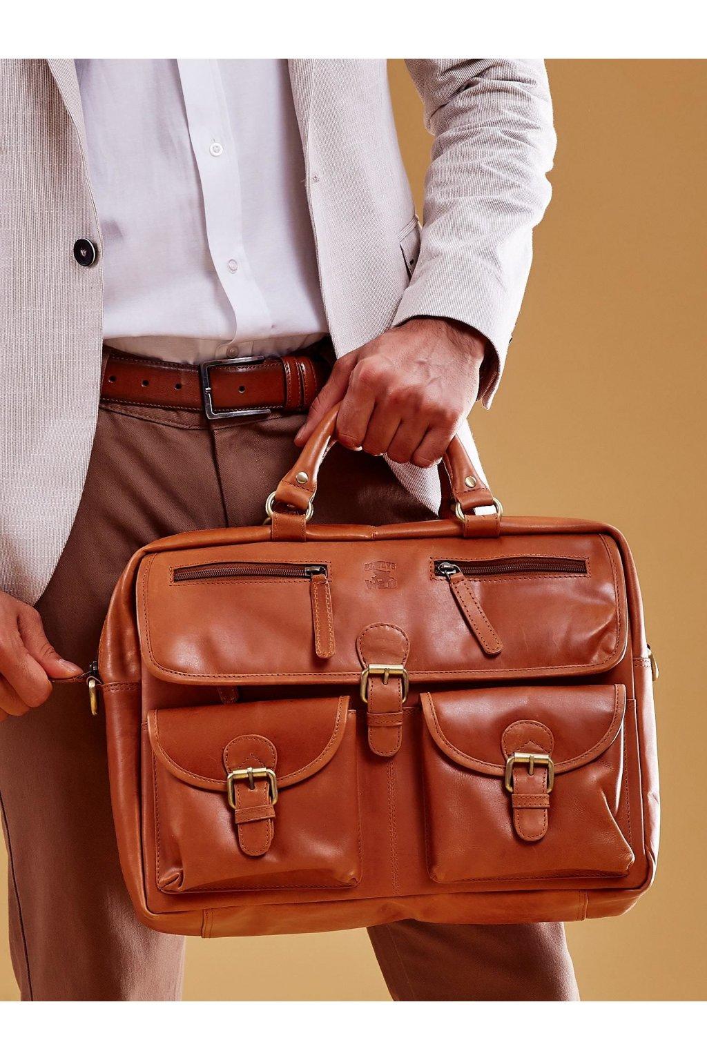 Pánska kabelka hnedá kód CE-TR-CP-146.07