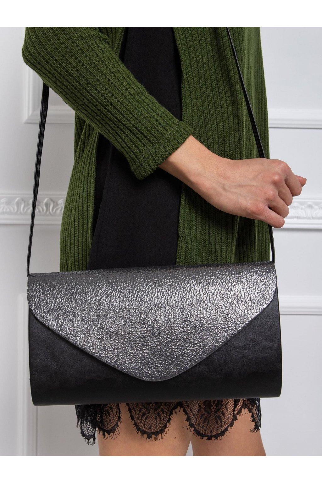 Listová kabelka čierno-strieborná kód OW-TR-200441.53