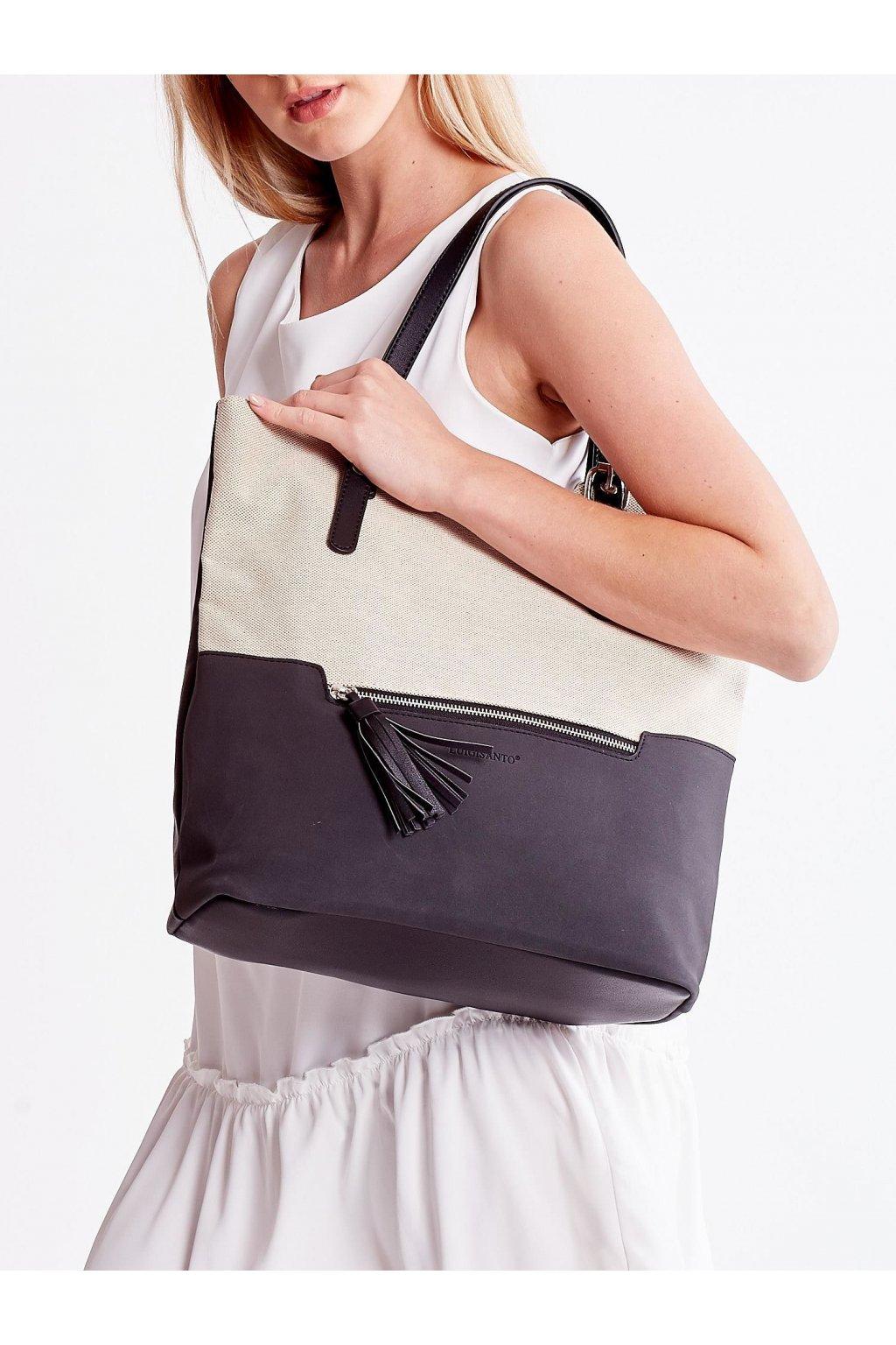 Shopper kabelka čierna kód OW-TR-5711-2.90