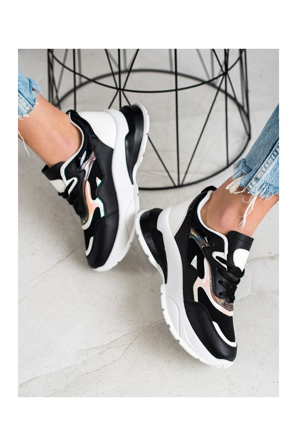 Čierne tenisky Sweet shoes kod L8031B