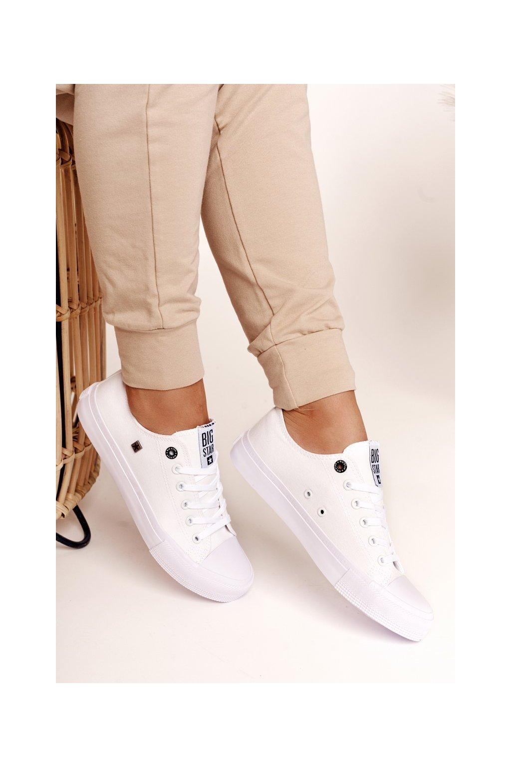 Dámske tenisky farba biela kód obuvi AA274010 WHITE