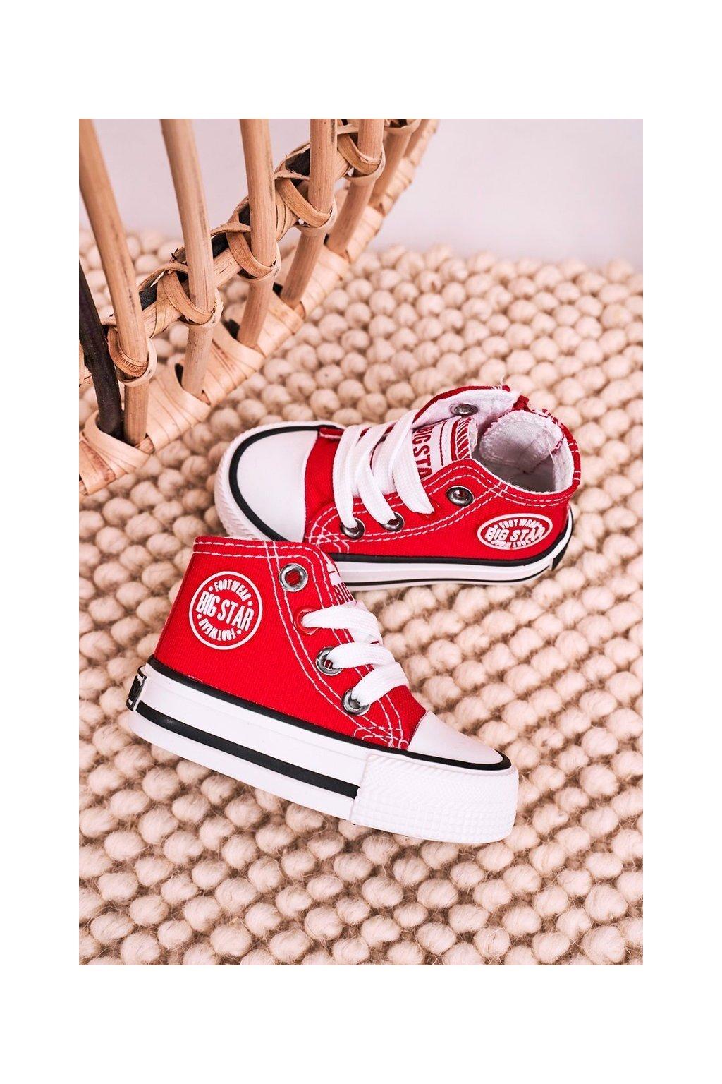 Detské tenisky farba červená kód obuvi HH374086 RED