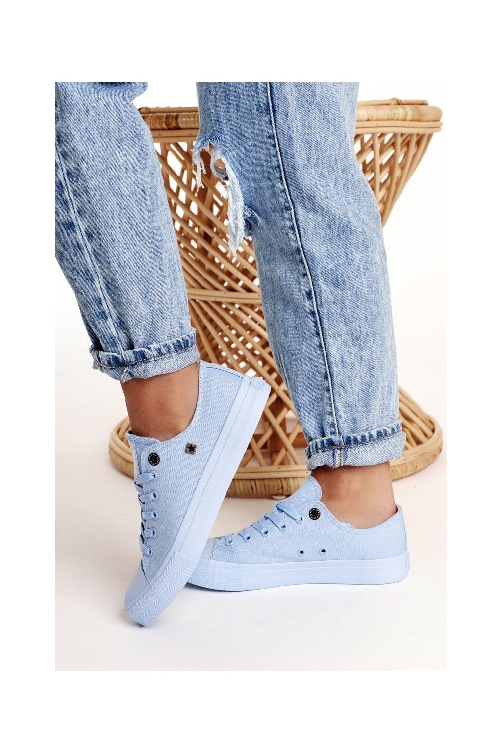 Dámske tenisky farba modrá kód obuvi AA274029 LT.BLUE