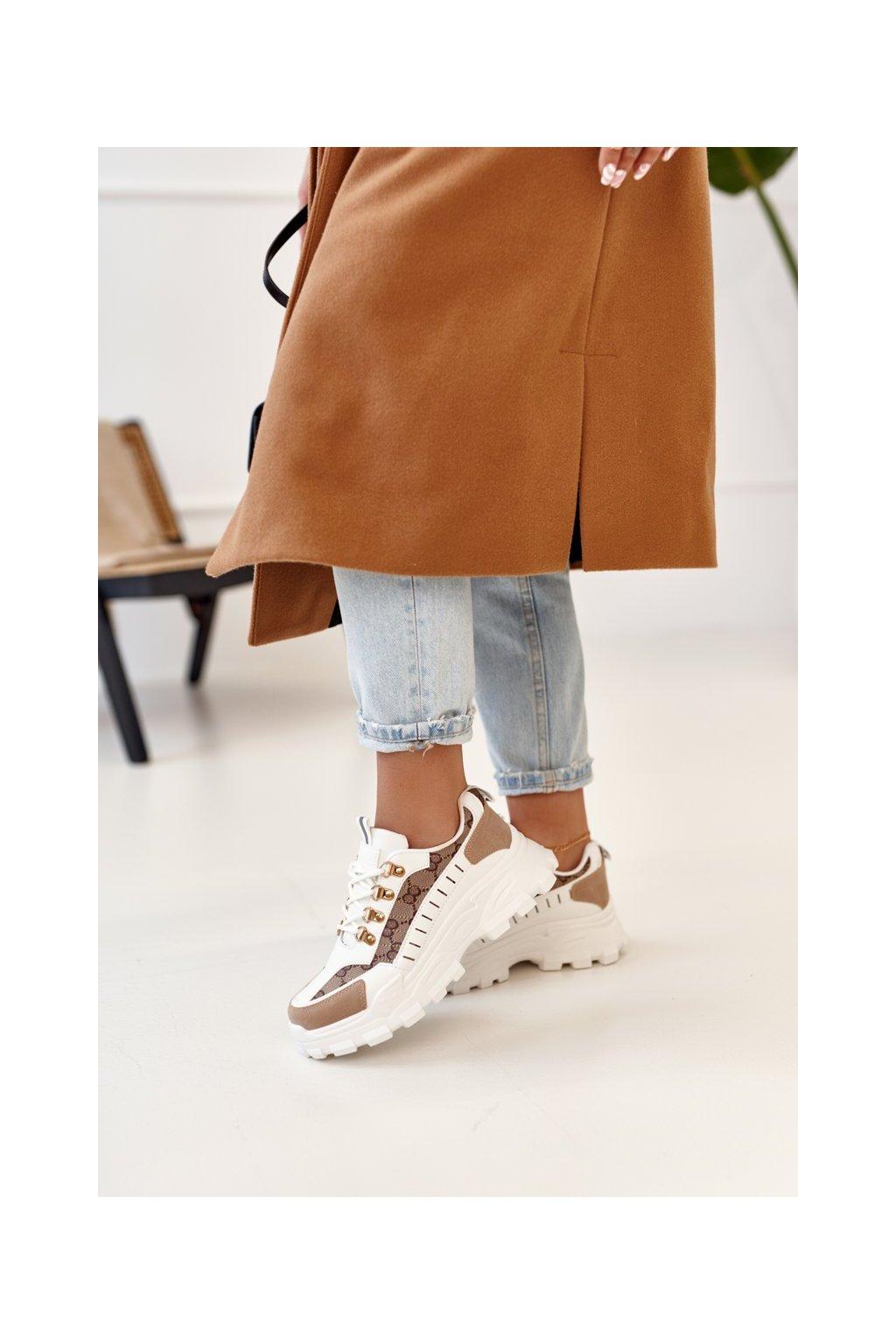 Dámske tenisky farba biela kód obuvi AB833 WHITE