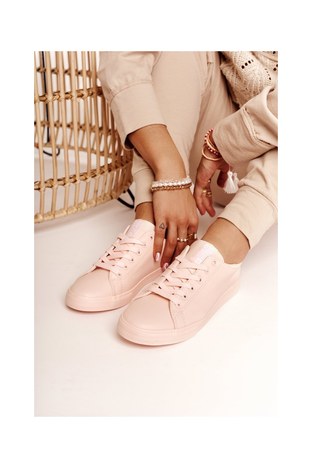 Dámske tenisky farba ružová kód obuvi HH274141 L.PINK