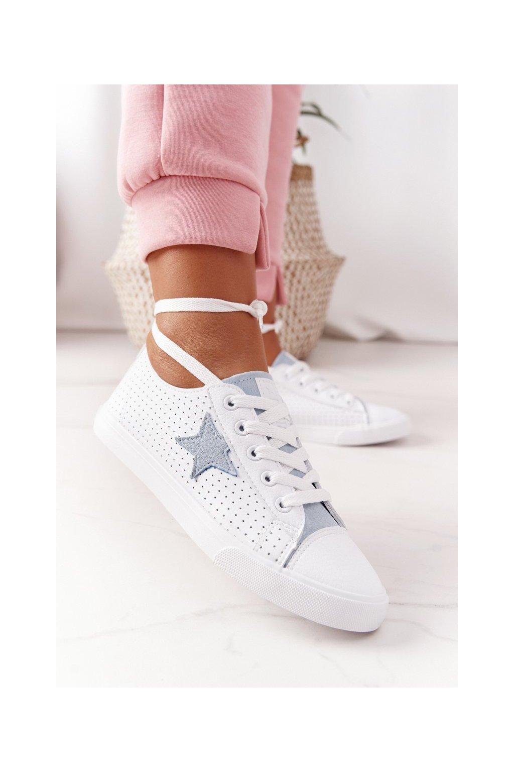 Dámske tenisky farba biela kód obuvi DD274692 WHITE/BLUE