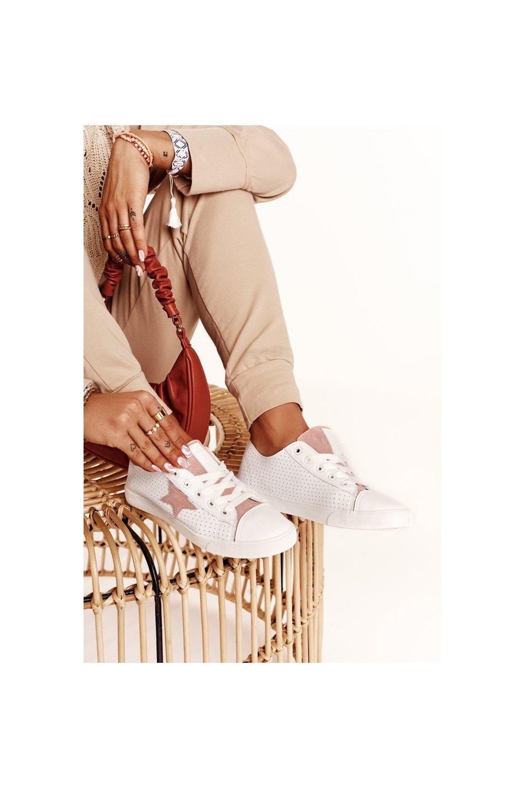 Dámske tenisky farba ružová kód obuvi DD274691 WHITE/PINK
