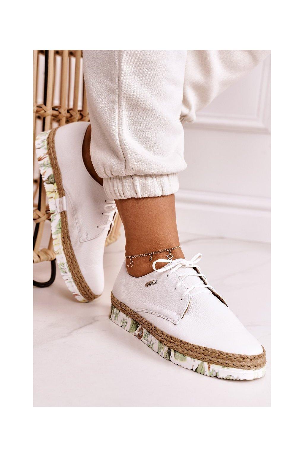 Dámske poltopánky farba biela kód obuvi 02936-11/00-5 BIAŁY