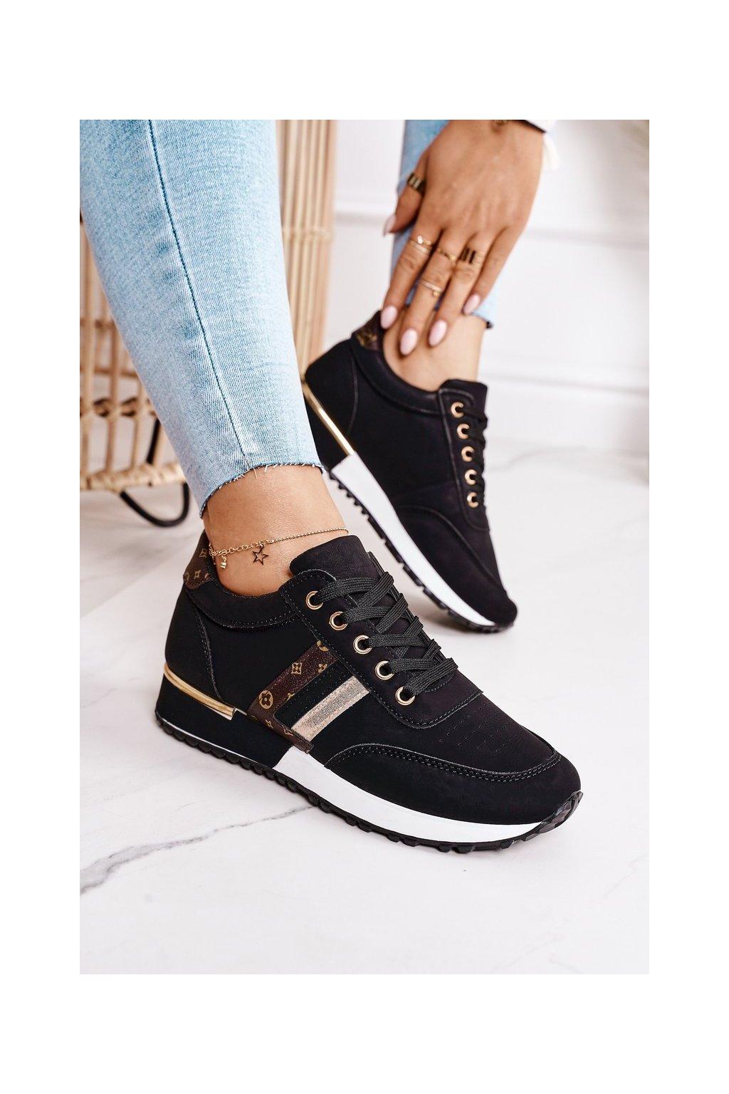 Dámske tenisky farba čierna kód obuvi TCYR-38 BLACK