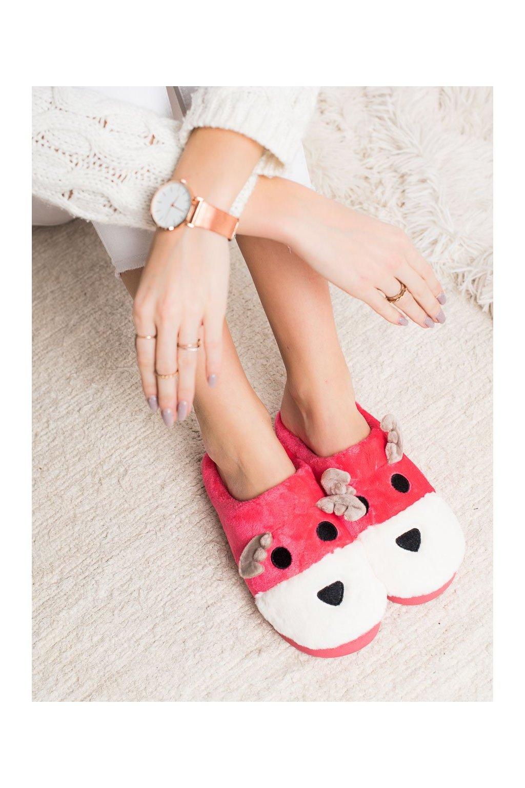 Ružové dámska obuv na doma Bona NJSK FX-39R