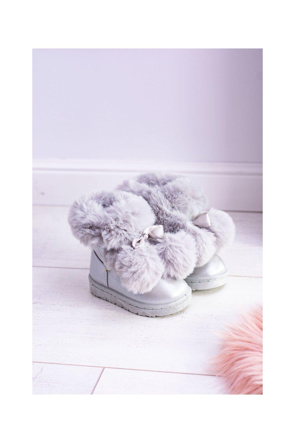 Detské snehule farba sivá NJSK 20215-1G/2G SILVER