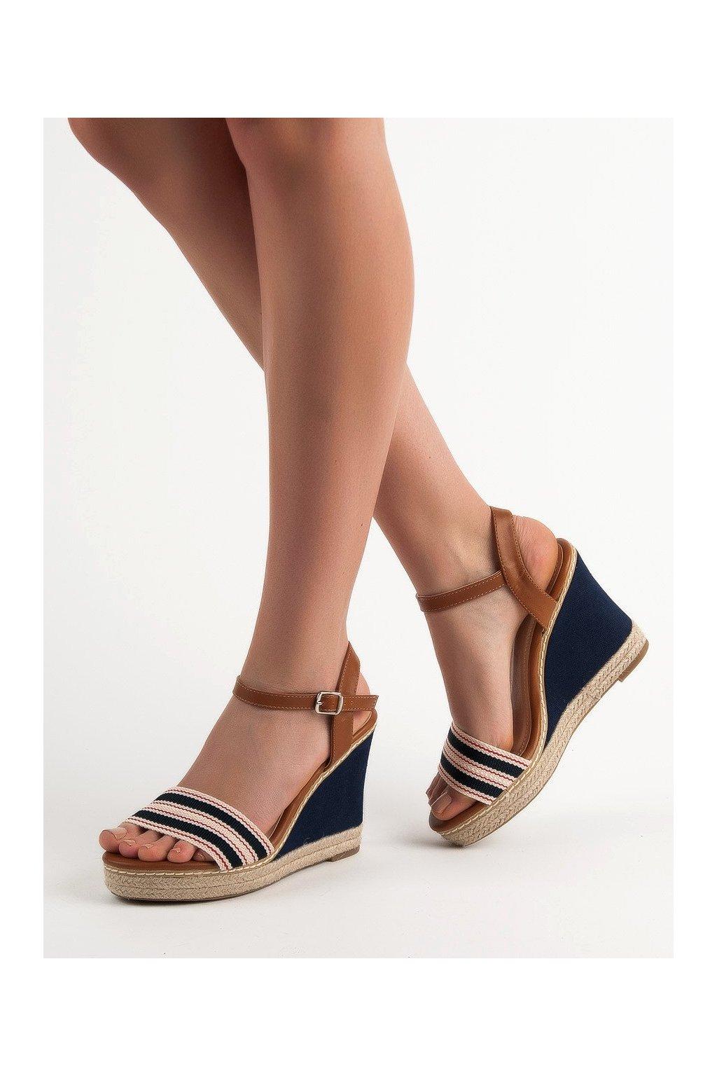 Modré sandále na platforme Primavera  NJSK 9068BL