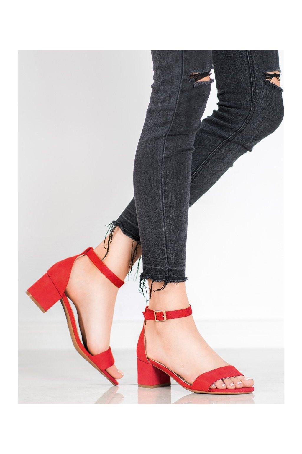 Červené sandále Evento NJSK 20SD98-1618R