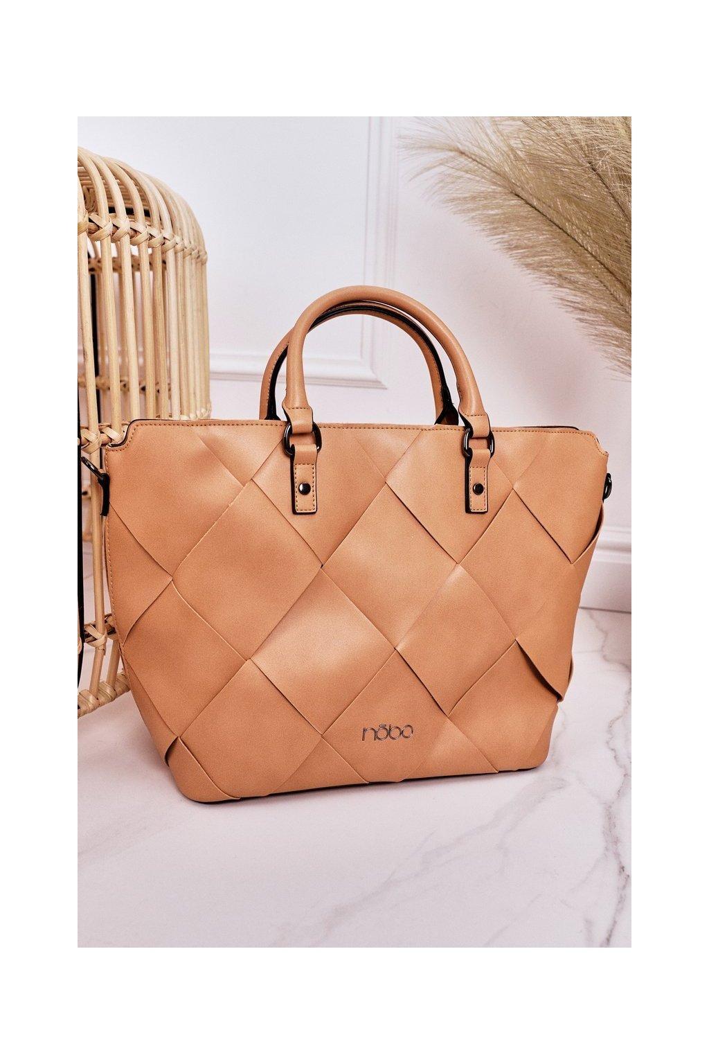 Dámska kabelka hnedá kód kabelky NBAG-K1250-C015 BEIGE