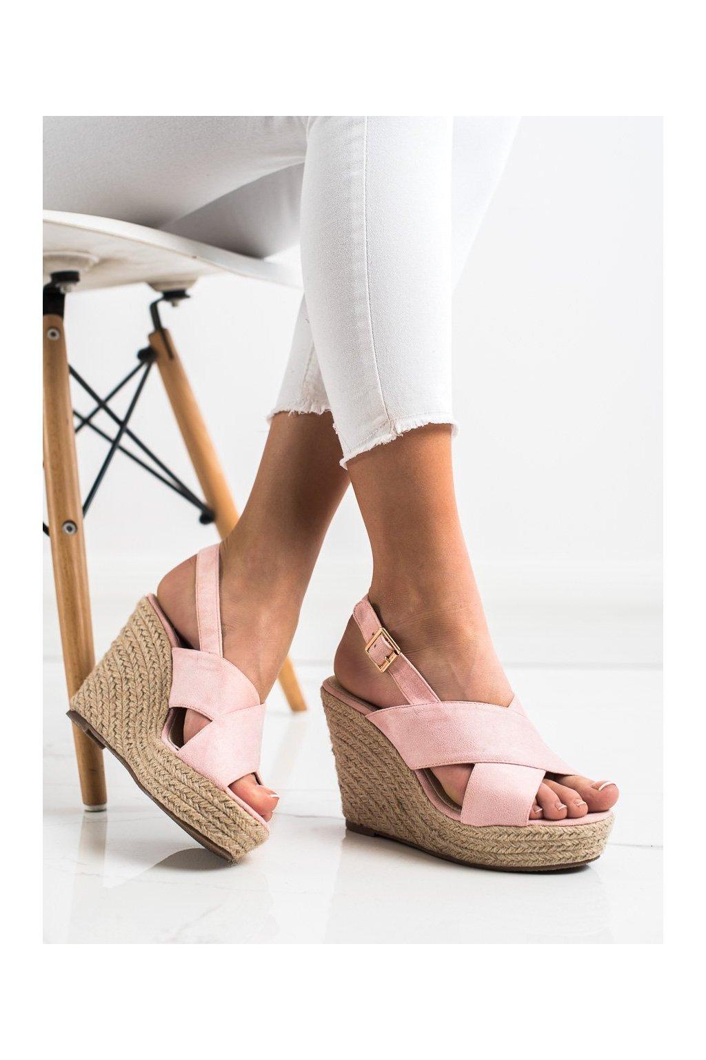 Ružové sandále Sabatina kod DM19-43P