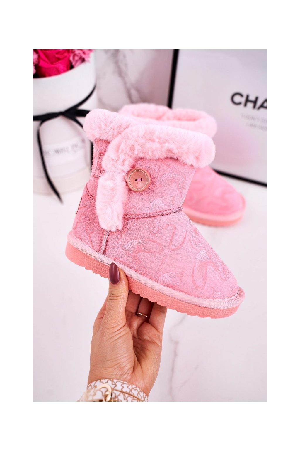 Detské snehule farba ružová NJSK N222/N223 PINK